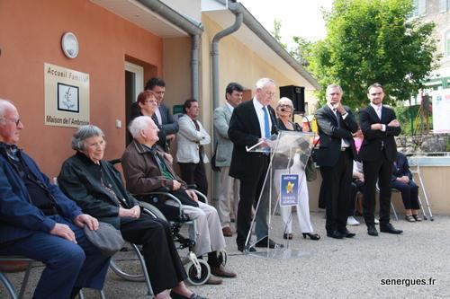 Paul Goudy a souligné le caract�re social et solidaire de l'Accueil Familial Regroupé